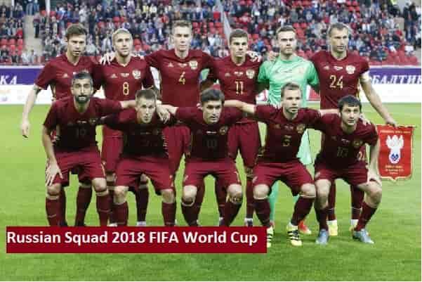 Russian 2018 FIFA World Cup Squad