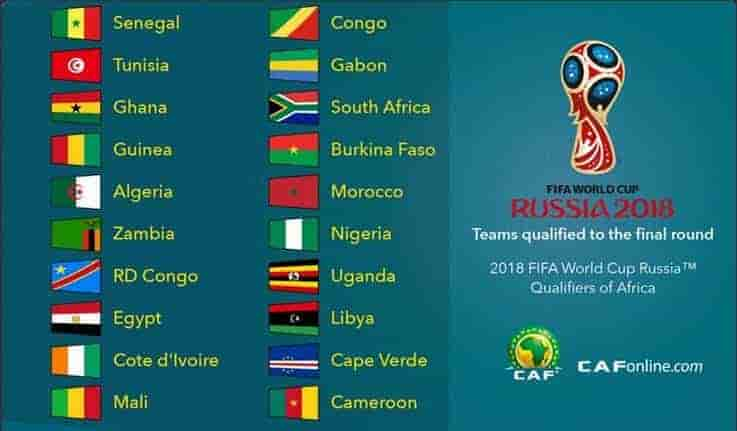 2018 FIFA World Cup Qualification CAF Schedule Online Stream