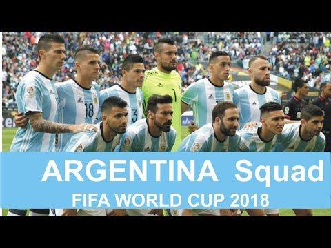 Argentina 2018 FIFA World Cup Squad