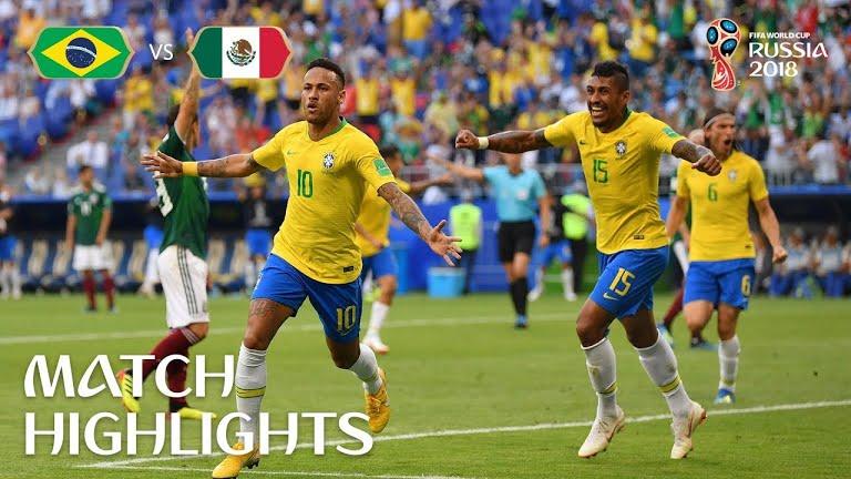 Brazil v Mexico MATCH 53-HIGHLIGHTS 2nd-July-2018