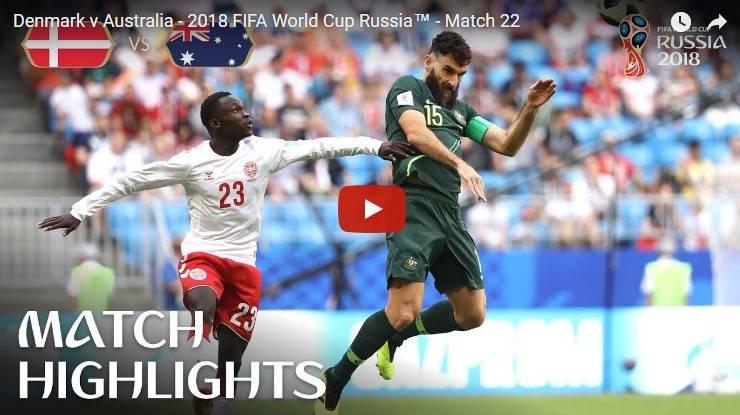 Denmark vs Australia MATCH-21 HIGHLIGHTS 21-JUNE-2018