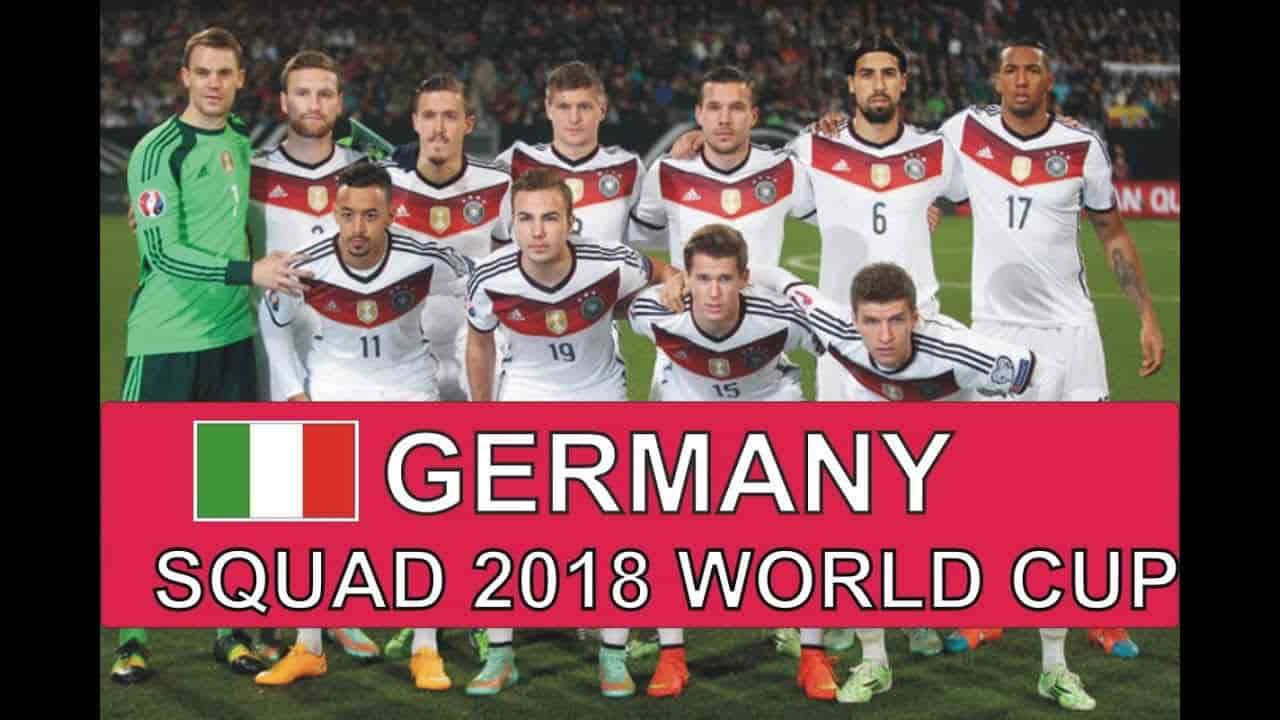 Germany World Cup 2018 Squad