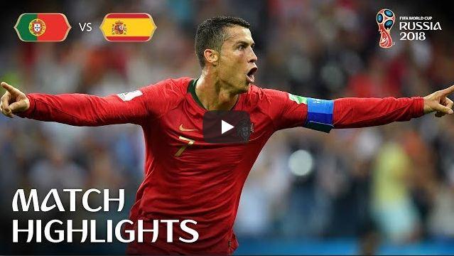 Portugal v Spain Match-3 Highlights 15-June-2018