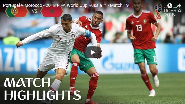 Portugal vs Morocco MATCH- 18 HIGHLIGHTS 20-JUNE-2018