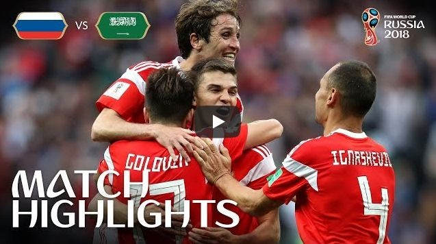 Russia v Saudi Arabia MATCH 1 Highlights 14-June-2018