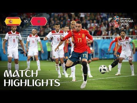 Spain vs Morocco MATCH-35 HIGHLIGHTS 25-JUNE-2018
